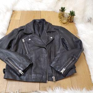 Top Shop Black Leather Moto Jacket